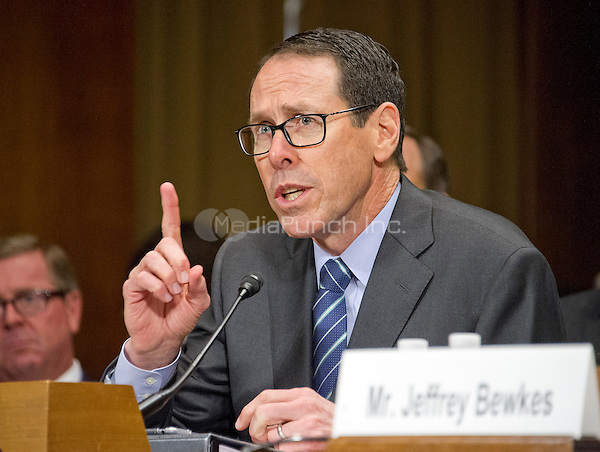 "Randall Stephenson, Chairman & Chief Executive Officer<br /> AT&T, gives testimony before the United States Senate Committee on the Judiciary Subcommittee on Antitrust, Competition Policy & Consumer Rights during the hearing ""Examining the Competitive Impact of the AT&T-Time Warner Transaction"" on Capitol Hill in Washington, DC on Wednesday, December 7, 2016.<br /> Credit: Ron Sachs / CNP /MediaPunch"