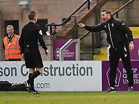 Notts County manager Kevin Nolan argues with Referee Ross Joyce<br /> <br /> Photographer Chris Vaughan/CameraSport<br /> <br /> The EFL Sky Bet League Two - Lincoln City v Notts County - Saturday 13th January 2018 - Sincil Bank - Lincoln<br /> <br /> World Copyright &copy; 2018 CameraSport. All rights reserved. 43 Linden Ave. Countesthorpe. Leicester. England. LE8 5PG - Tel: +44 (0) 116 277 4147 - admin@camerasport.com - www.camerasport.com