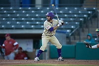 Seth Graves (33) of the Western Carolina Catamounts at bat against the Saint Joseph's Hawks at TicketReturn.com Field at Pelicans Ballpark on February 23, 2020 in Myrtle Beach, South Carolina. The Hawks defeated the Catamounts 9-2. (Brian Westerholt/Four Seam Images)