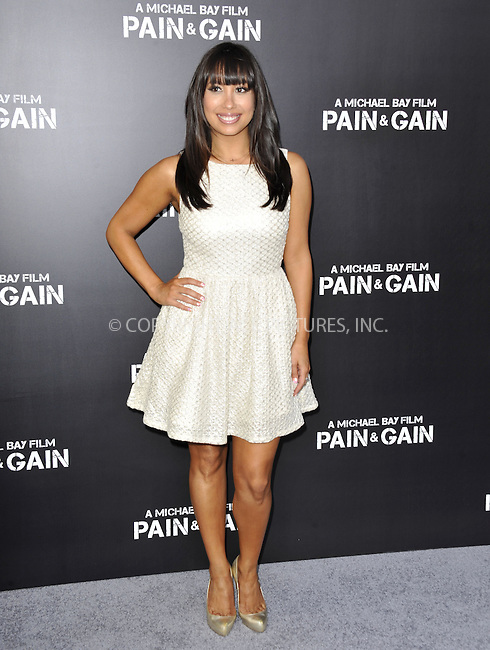WWW.ACEPIXS.COM....April 22 2013, LA....Cheryl Burke arriving at the 'Pain & Gain' premiere held at TCL Chinese Theatre on April 22, 2013 in Hollywood, California. ....By Line: Peter West/ACE Pictures......ACE Pictures, Inc...tel: 646 769 0430..Email: info@acepixs.com..www.acepixs.com