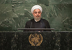 His Excellency Hassan Rouhani, President of the Islamic Republic of Iran<br /> <br /> <br /> 6th plenary meeting High-level plenary meeting of the General Assembly (3rd meeting)