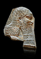 Stone relief sculptured panel of a Dignitary. Inv AO 7374 from Dur Sharrukin the palace of Assyrian king Sargon II at Khorsabad, 713-706 BC.  Louvre Museum Room 4 , Paris