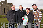 John Culloty, Danny Houlihan, Joanne Kelly Walsh and Christopher McSorley pictured in the castle green in Ballybunion to launch the upcoming events this spring and summer in the town..