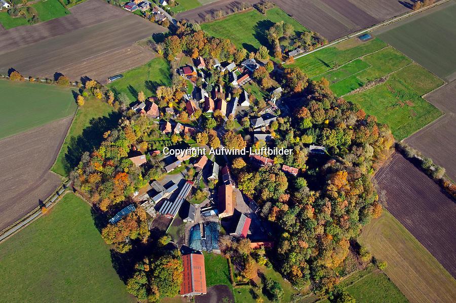 Rundling Schreyahn: EUROPA, DEUTSCHLAND,  NIEDERSACHSEN(EUROPE, GERMANY), 29.07.2012: Das Dorf Schreyahn ein Rundling  liegt auf etwa halber Laenge zwischen Luechow und Clenze und ist wegen der seit langem dort stattfindenden kulturellen Aktivitaeten einer der bekanntesten Orte im Wendland. Schreyahn hat ca. 60 Einwohner. Schreyahn wurde 1360 erstmals als Screy / Screye erwaehnt. Im Ort wurden vom Verein zur Erhaltung von Rundlingen drei Haeuser wieder in Fachwerk zurueckgebaut. Bis kurz nach dem ersten Weltkrieg lagen zwischen Schreyahn und Wustrow drei Kalibergwerke.