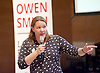 Owen Smith MP<br /> Labour Leadership candidate <br /> Rally at Lyric Theatre, Hammersmith, London, Great Britain <br /> 23rd August 2016 <br /> <br /> Anna Turley MP <br /> Redcar made an impassioned speech <br /> <br /> <br /> Photograph by Elliott Franks <br /> Image licensed to Elliott Franks Photography Services