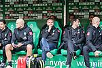 02.11.2019, wohninvest WESERSTADION, Bremen, GER, 1.FBL, Werder Bremen vs SC Freiburg<br /> <br /> DFL REGULATIONS PROHIBIT ANY USE OF PHOTOGRAPHS AS IMAGE SEQUENCES AND/OR QUASI-VIDEO.<br /> <br /> im Bild / picture shows<br /> Frank Baumann (Geschäftsführer Fußball Werder Bremen) (Mitte) auf der Bank, <br /> <br /> Foto © nordphoto / Ewert