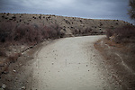 LOVELOCK, NV - JANUARY 29, 2014: The Humboldt River is dry as a drought emergency is declared in Nevada. CREDIT: Max Whittaker for The New York Times