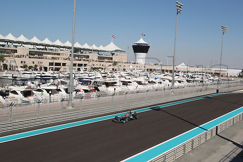 11.11.2011 Abu Dhabi, United Arab Emirates. Yas Marina Circuit, Michael Schumacher, Mercedes MGP W02, during the practice day of the FIA Formula One Grand Prix of Abu Dhabi UAE.