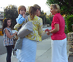 "6-18-09 Exclusive .Julia Roberts leaving the Sage Room Restaurant in Malibu California. Julia was with her kids Henry Daniel Moder Hazel , Phinnaeus  some friends and her mother.  When a fan started taking these picture Julia stomped over to the photographer and tried grabbing his camera & said ""What are doing!!?? You can't just go and take pictures of random people I'm with my kids & your acting just like one""  It must of slipped Julia's mind that she's movie star not exactly a random person.  Then the waiter came out of the restaurant because Julia forgot to sign her check ..AbilityFilms@yahoo.com.805-427-3519.www.AbilityFilms.com."