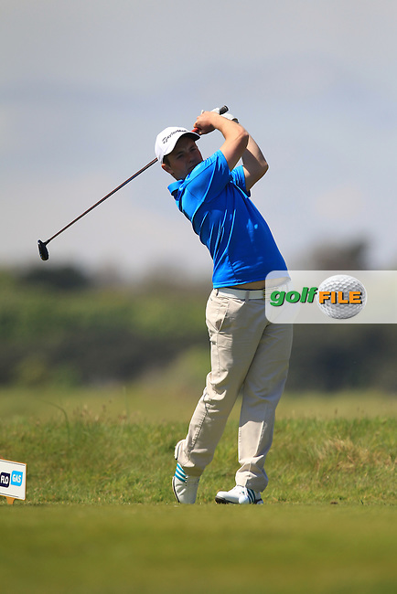Jack Hume (Naas) on the 8th tee during Round 4 of the Flogas Irish Amateur Open Championship at Royal Dublin on Sunday 8th May 2016.<br /> Picture:  Golffile / Thos Caffrey