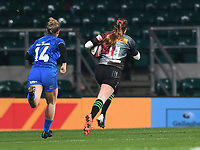 28th December 2019; Twickenham, London, England; Big Game 12 Womens Rugby, Harlequins versus Leinster; Jess Breach of Harlequins runs in her third try - Editorial Use