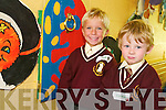 SAY CHEESE: Niall Fitzmaurice and Cormac Lynch took time out from their lessons to pose for a photo during their first day at Holy Family National School on Monday.