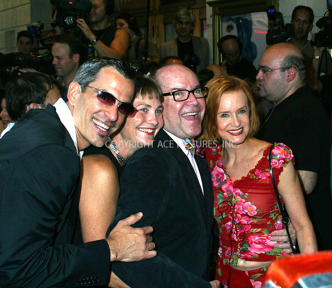 "Opening night for Broadway's newest and hottest show, ""Hairspray"" at Neil Simon Theatre. New York, August 15, 2002. Pictured are.Jack Mitchell, Cherry Jones, Jack O'Brien & Swoozie Kurtz. Please byline: Alecsey Boldeskul/NY Photo Press.   ..*PAY-PER-USE*      ....NY Photo Press:  ..phone (646) 267-6913;   ..e-mail: info@nyphotopress.com"