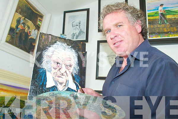 ART: Artist JJ Sheehy who will host art classes over the coming months in Kielduff and Lyreacrompane, at his gallery in Ballinorig on Friday last.   Copyright Kerry's Eye 2008