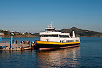 Sausalito; harbor; waterfront; Blue and Gold Ferry, California, USA.  Photo copyright Lee Foster.  Photo # california108002