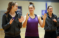29.08.2017 Silver Ferns Mia Wilson in action during the Silver Ferns training in Auckland. Mandatory Photo Credit ©Michael Bradley.