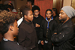 Grasan Kingsberry and Cast members of 'The Color Purple' host a meet and greet with kids from PAL at The Jacobs Theatre on December 7, 2016 in New York City.