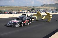 Jul 22, 2017; Morrison, CO, USA; NHRA funny car driver Del Worsham during qualifying for the Mile High Nationals at Bandimere Speedway. Mandatory Credit: Mark J. Rebilas-USA TODAY Sports