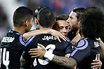 Real Madrid's players celebrate goal during La Liga match. April 5,2017. (ALTERPHOTOS/Acero)