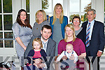 Conor Hayes-Ryan Whitebridge Manor, Killarney celebrated his christening with his parents Samira and Liam and big sister Emma and family in the Killarney heights Hotel on Saturday back l-r: Antoinette O'Leary, Violet Hayes, Assumta O'Shea, Brendan Ryan and Mossie Ryan