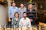 Stephen Walsh, pictured with family and friends as he celebrated his 25th birthday at Bella Bia restaurant, Tralee on Saturday night last, front l-r: Marie O'Connell and Stephen Walsh. Back l-r: Shane Walsh, Darragh Walsh and Martin Walsh.