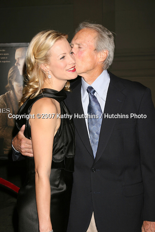"Alison Eastwood, Clint Eastwood.""Rails & Ties"" Premiere.Stephen J. Ross Theater.Warner Brothers Lot.Burbank,  CA.October 23, 2007.©2007 Kathy Hutchins / Hutchins Photo...               ."