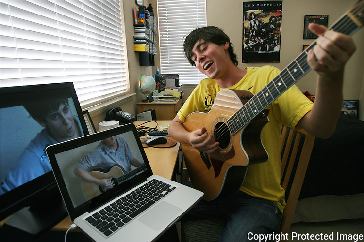 Luke Walton sings Love Song, a song by Taylor Swift that he sung to Taylor Swift in hopes of getting a date with her. The video taped version of the song is posted on YouTube and plays on the computer screens in his room in Murrieta, California in 2009.  for The Californian