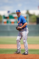 GCL Mets relief pitcher Ronnie Taylor Jr. (66) gets ready to deliver a pitch during a game against the GCL Cardinals on August 6, 2018 at Roger Dean Chevrolet Stadium in Jupiter, Florida.  GCL Cardinals defeated GCL Mets 6-3.  (Mike Janes/Four Seam Images)