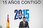 "King Felipe VI of Spain during the main event of the XV Aniversary of the ""20Minutos"" newspaper at Headquarters of the Community of Madrid, November 24, 2015<br /> (ALTERPHOTOS/BorjaB.Hojas)"