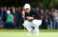 Martin Kaymer lines up a putt on the 1st - BMW Golf at Wentworth - Day 2 - 22/05/15 - MANDATORY CREDIT: Rob Newell/GPA/REX -