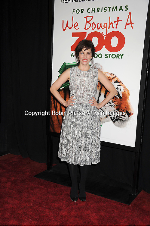 "Parker Posey in Rachel Comey lace dress attends The New York Screening of ""We Bought A Zoo"" on December 12, 2011 at The Ziegfeld Theatre in New York City. The movie stars Matt Damon, Scarlett Johansson, Thomas Haden Church, Patrick Fugit, Colin Ford, Elle Fanning and John Michael Higgins."