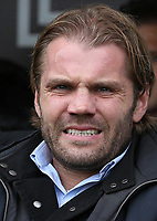 Milton Keynes Dons manager Robbie Neilson takes his seat <br /> <br /> Photographer Juel Miah/CameraSport<br /> <br /> The EFL Sky Bet League One - Bury v Milton Keynes Dons - Saturday 30th September 2017 - Gigg Lane - Bury<br /> <br /> World Copyright &copy; 2017 CameraSport. All rights reserved. 43 Linden Ave. Countesthorpe. Leicester. England. LE8 5PG - Tel: +44 (0) 116 277 4147 - admin@camerasport.com - www.camerasport.com
