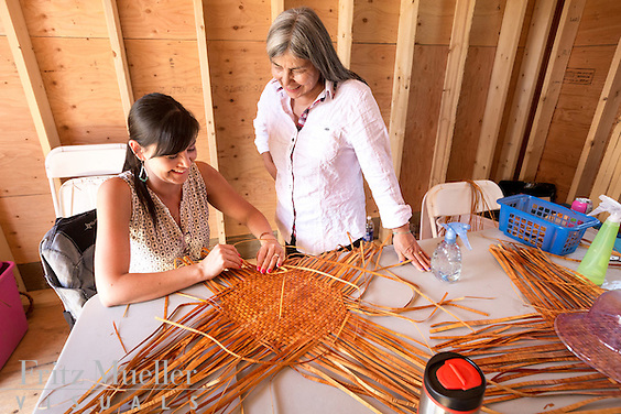 Adaka Cultural Festival 2016, Whitehorse, Yukon, Canada, Yukon First Nation Culture and Tourism Association, Kwanlin Dun Cultural Centre, Debra Michel, cedar hat workshop