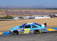 Jun. 21, 2009; Sonoma, CA, USA; NASCAR Sprint Cup Series driver David Gilliland during the SaveMart 350 at Infineon Raceway. Mandatory Credit: Mark J. Rebilas-