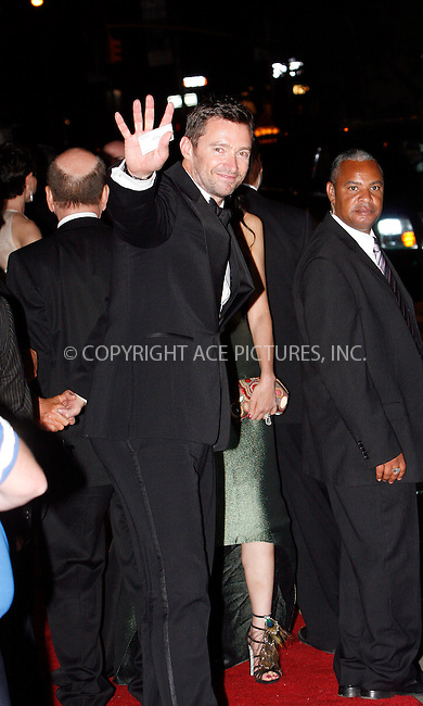 WWW.ACEPIXS.COM . . . . .  ....May 3 2010, New York City....Hugh Jackman leaving the Costume Institute Gala on May 3 2010 in New York City....Please byline: NANCY RIVERA- ACEPIXS.COM.... *** ***..Ace Pictures, Inc:  ..Tel: 646 769 0430..e-mail: info@acepixs.com..web: http://www.acepixs.com
