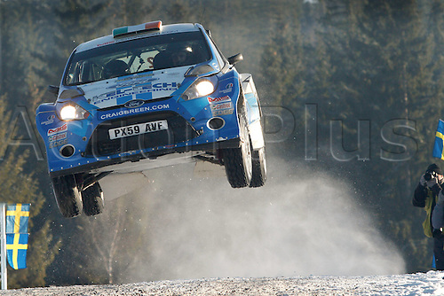 12.02.2012 Sweden.   Craig Breen Gareth Roberts Ford Fiesta S2000 Automobiles Rally of Sweden.