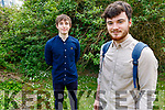"""Ben Kavanagh with Luke Murphy as they unveil their video which is going online on June 2nd and their dark comedy is """"Meat is Murder""""."""