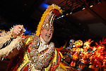 Captain Bob Shannon of the Philadelphia Mummers leads the music at the San Luis Mardi Gras Ball in Galveston Friday Feb. 01,2008.(Dave Rossman/For the Chronicle)
