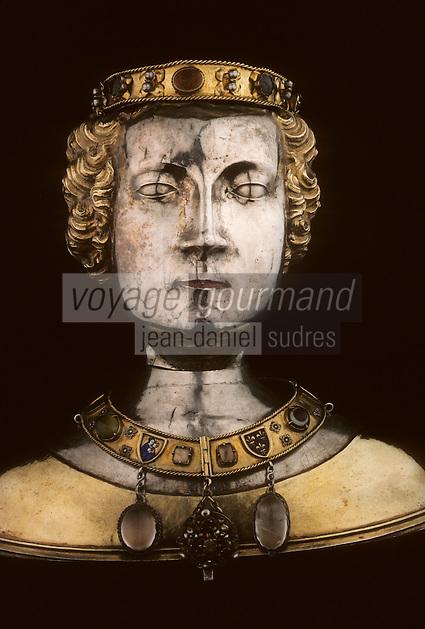 Europe/France/Limousin/23/Creuse/Chambon-sur-Voueize: Trésor de l'église Ste-Valérie - Buste reliquaire de Ste-Valérie XVème