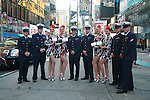 "U.S. Troops and The Rockettes at Cosmopolitan Teams Up With Maybelline New York And The United Service Organization (USO) To Collect ""Kisses For The Troops"" in Times Square, New York"