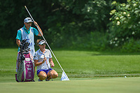 Brittany Lang (USA) lines up her putt on 10 during round 1 of the 2018 KPMG Women's PGA Championship, Kemper Lakes Golf Club, at Kildeer, Illinois, USA. 6/28/2018.<br /> Picture: Golffile | Ken Murray<br /> <br /> All photo usage must carry mandatory copyright credit (&copy; Golffile | Ken Murray)