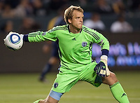 The LA Galaxy defeated Sporting KC 4-1 at Home Depot Center stadium in Carson, California on  May 14, 2011....