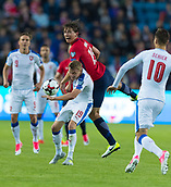 June 10th 2017, Ullevaal Stadion, Oslo, Norway; World Cup 2018 Qualifying football, Norway versus Czech Republic;  Sander Berge of Norway battles with Ladislav Krejci of Czech Republic during the FIFA World Cup qualifying match