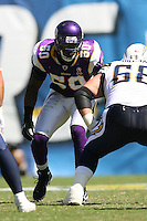 09/11/11 San Diego, CA: Minnesota Vikings linebacker Erin Henderson #50 during an NFL game played at Qualcomm Stadium between the San Diego Chargers and the Minnesota Vikings. The Chargers defeated the Vikings 24-17.