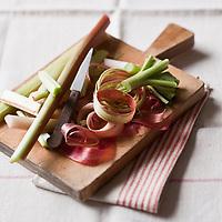 Gastronomie générale/Rhubarbe - Stylisme : Valérie LHOMME