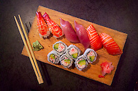 Vancouver, BC, Canada, August 2006. Sushi is widely available at affordable prices all over Vancouver. Squeezed in between the Rocky Mountains and the Pacific Ocean, Vancouver has a special feel. Photo by Frits Meyst/Adventure4ever.com