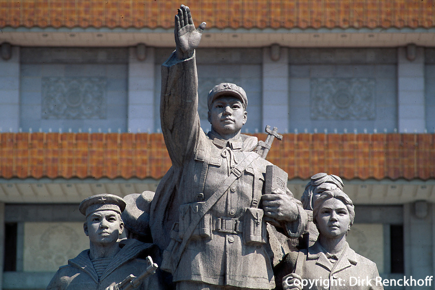 China, Peking, Tian An Men-Platz, vor dem Mao-Mausoleum