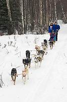 Hans Gatt w/Iditarider on Trail 2005 Iditarod Ceremonial Start near Campbell Airstrip Alaska SC