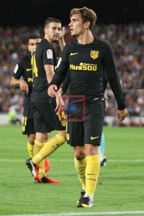 League Santander 2016/2017. Game: 5.<br /> FC Barcelona vs Atletico de Madrid: 1-1.<br /> Antoine Griezmann.