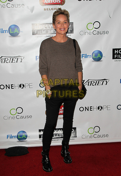 Hollywood, CA - October 16: Sharon Stone Attending 2014 Hollywood Film Festival - Opening Night Gala And Q&amp;A At ArcLight Cinemas California on October 16, 2014.  <br /> CAP/MPI/RTNUPA<br /> &copy;RTNUPA/MediaPunch/Capital Pictures